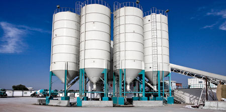 HZS Ready-Mixed Concrete Mixing Plant